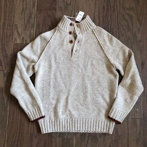 Brooks Brothers Red Fleece Wool Sweater